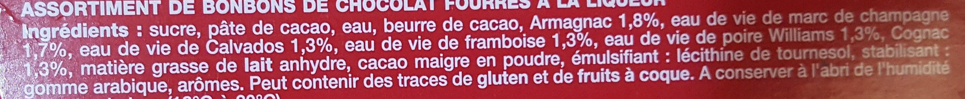 Liqueurs de France - Ingredientes