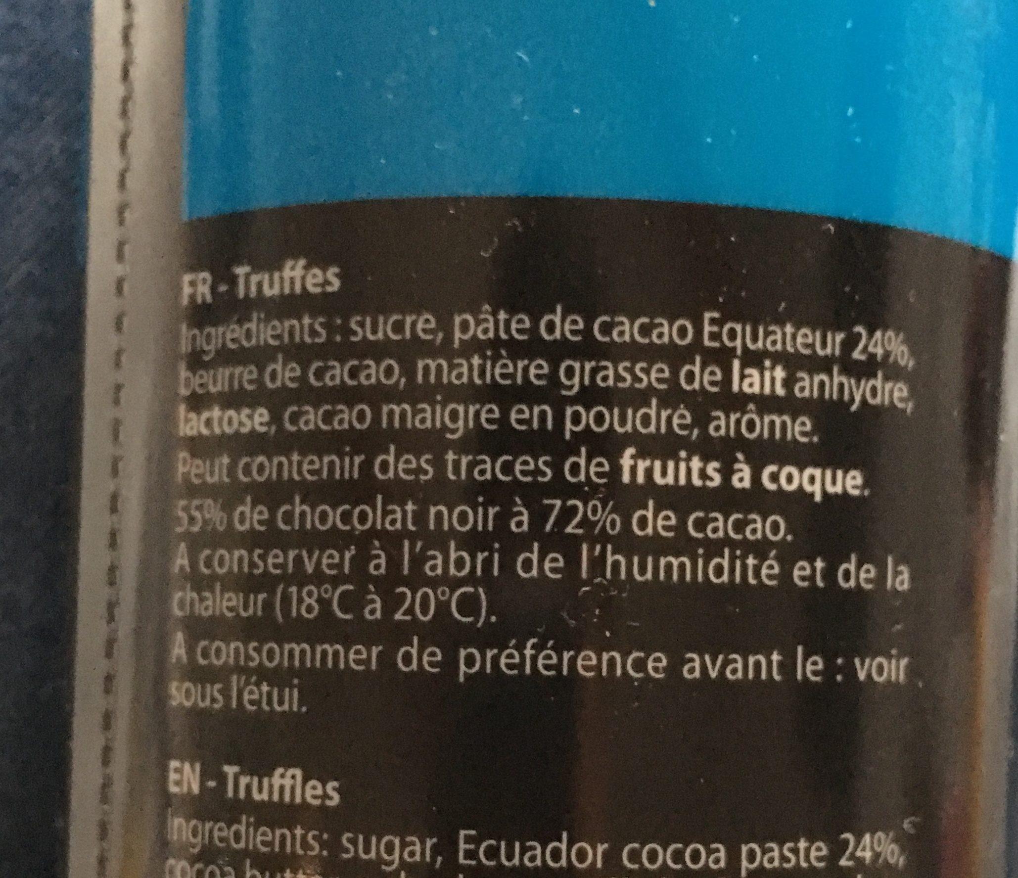 Etui Truffes Equateur - Ingrédients - fr