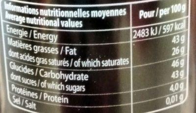 Etui Truffes Equateur - Informations nutritionnelles - fr
