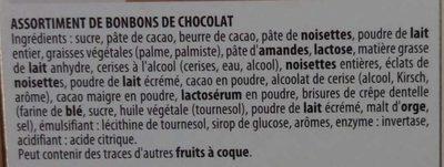 Assortiment de Bonbons de Chocolat - Ingredients - fr