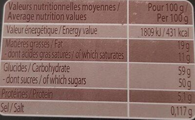 Assortiment Rochers Guimauves - Nutrition facts - fr