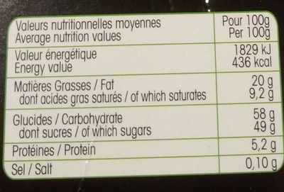 Rocher Guimauve - Nutrition facts - fr