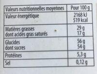Cheverny Assortiment de chocolats au lait Noirs et Blancs - Nutrition facts - fr