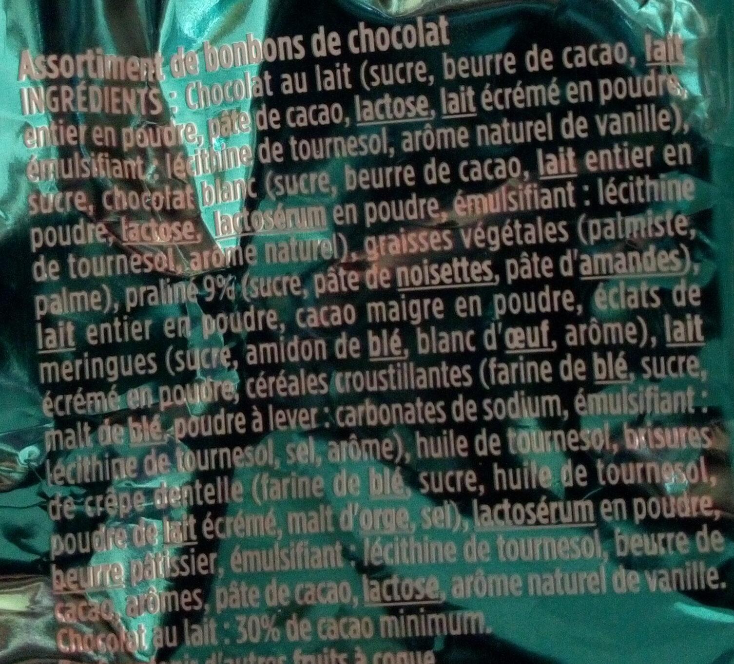 Chalet enneigé lait et blanc - Ingrédients - fr