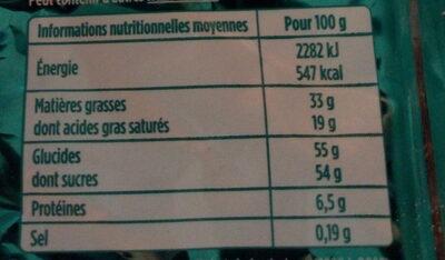 Chalet enneigé lait et blanc - Informations nutritionnelles - fr