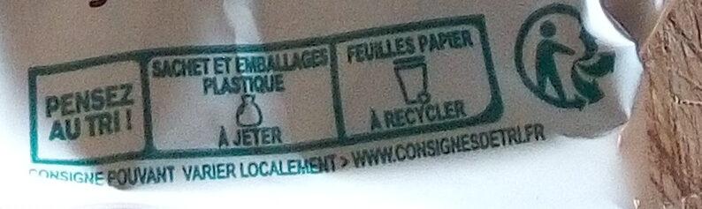 Chalet enneigé lait et blanc - Instruction de recyclage et/ou informations d'emballage - fr