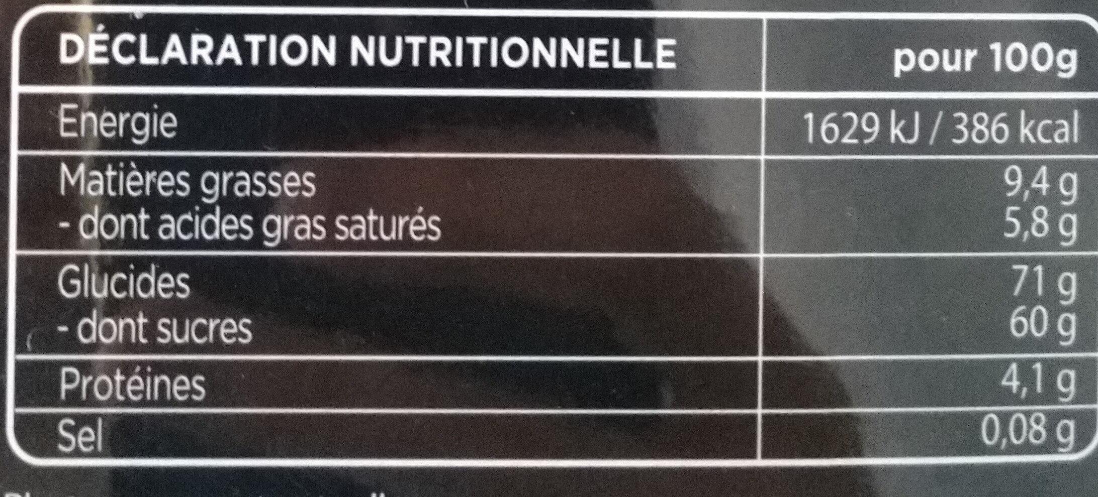Cœur Guimauve - Informations nutritionnelles - fr