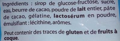 Ourson guimauve - Ingredients