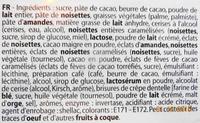 Assortiment Chocolatier, chocolats noir, lait, blanc et griottes au kirch - Ingrédients