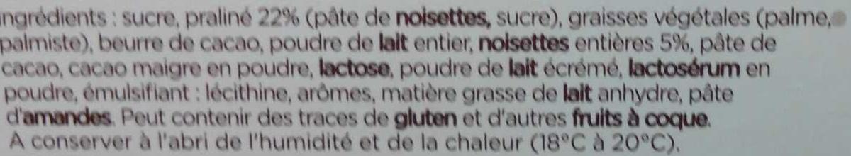 Trésor croquant - Ingrédients - fr