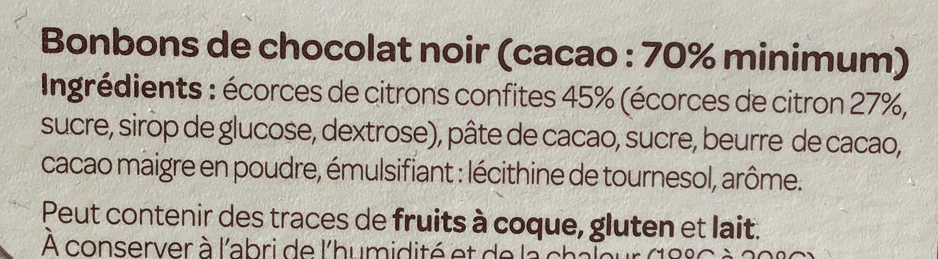 Citronnettes noir 70% - Ingredients - fr