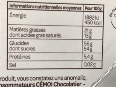 Citronnettes noir 70% - Nutrition facts - fr