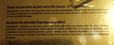 Poule chocolat - Ingredienti - fr
