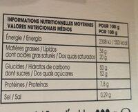 Poule chocolat - Valori nutrizionali - fr