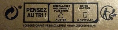Poule chocolat - Istruzioni per il riciclaggio e/o informazioni sull'imballaggio - fr