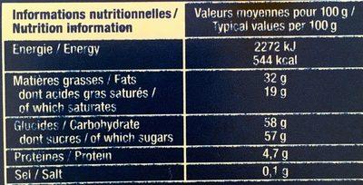 Chocolats 7 Spécialités - Nutrition facts