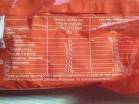 Barritas choco galleta - Informació nutricional