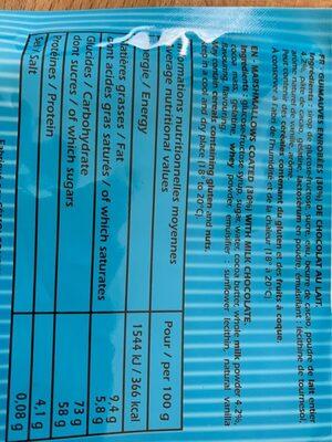 Ourson guimauve - Informations nutritionnelles - fr