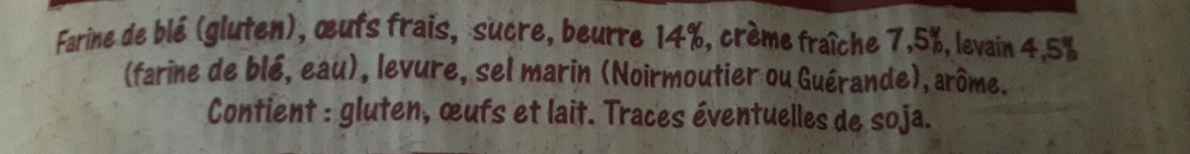 Gâche Pur Beurre - Ingredients