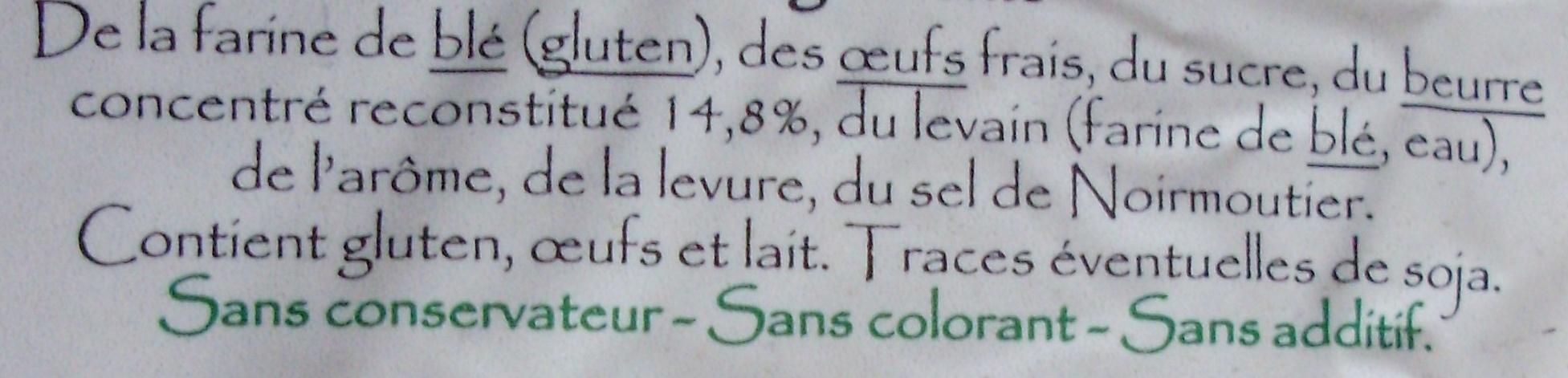 Brioche Vendéenne - Ingrédients