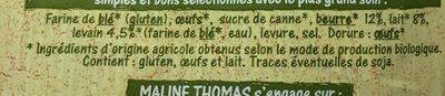 Brioche bio - Ingredients - fr