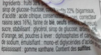 Cake pur beurre aux fruits - Ingrediënten - fr