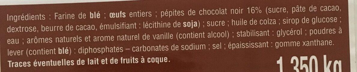 Mini-cakes aux pépites de chocolat noir - Ingrédients