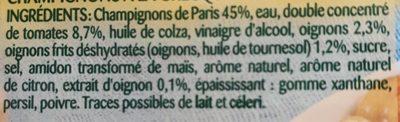 Champignons à la Grecque - Ingrédients - fr