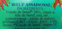 Bœuf assaisonné pimenté - Ingrédients - fr