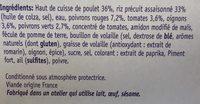 Poulet basquaise, riz blanc, 300g - Ingredients - fr