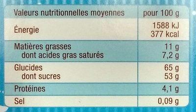 L'Authentique Petit Ourson Guimauve & Ses Amis - Informations nutritionnelles - fr