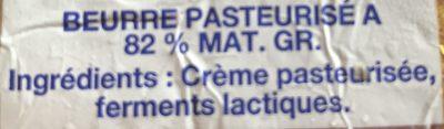 Beurre Doux Extra-fin,Verneuil - Ingrédients - fr