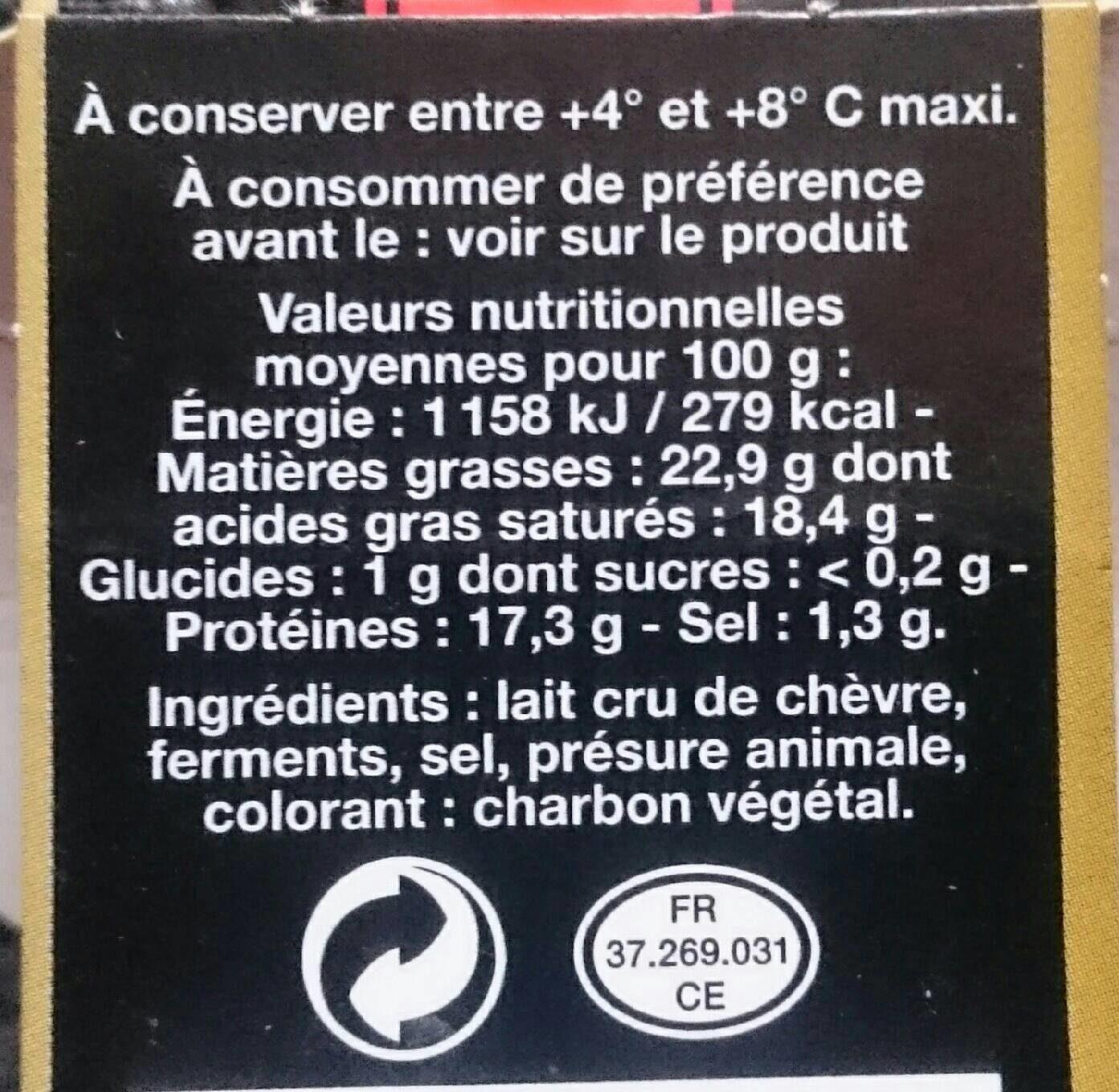 St Maure Touraine 250G, - Informations nutritionnelles - fr