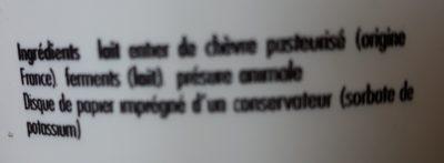La faisselle de chèvre - Ingrédients - fr