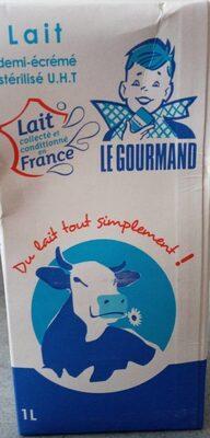 Lait demi-écrémé Le Gourmand - Produit - fr