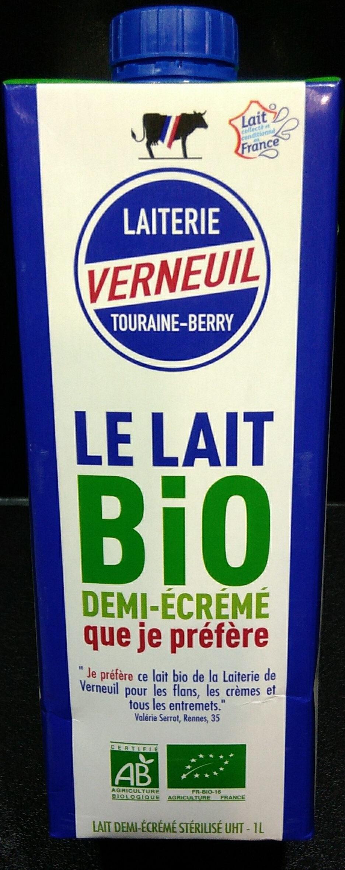 Lait demi-écrémé Bio - Produit - fr