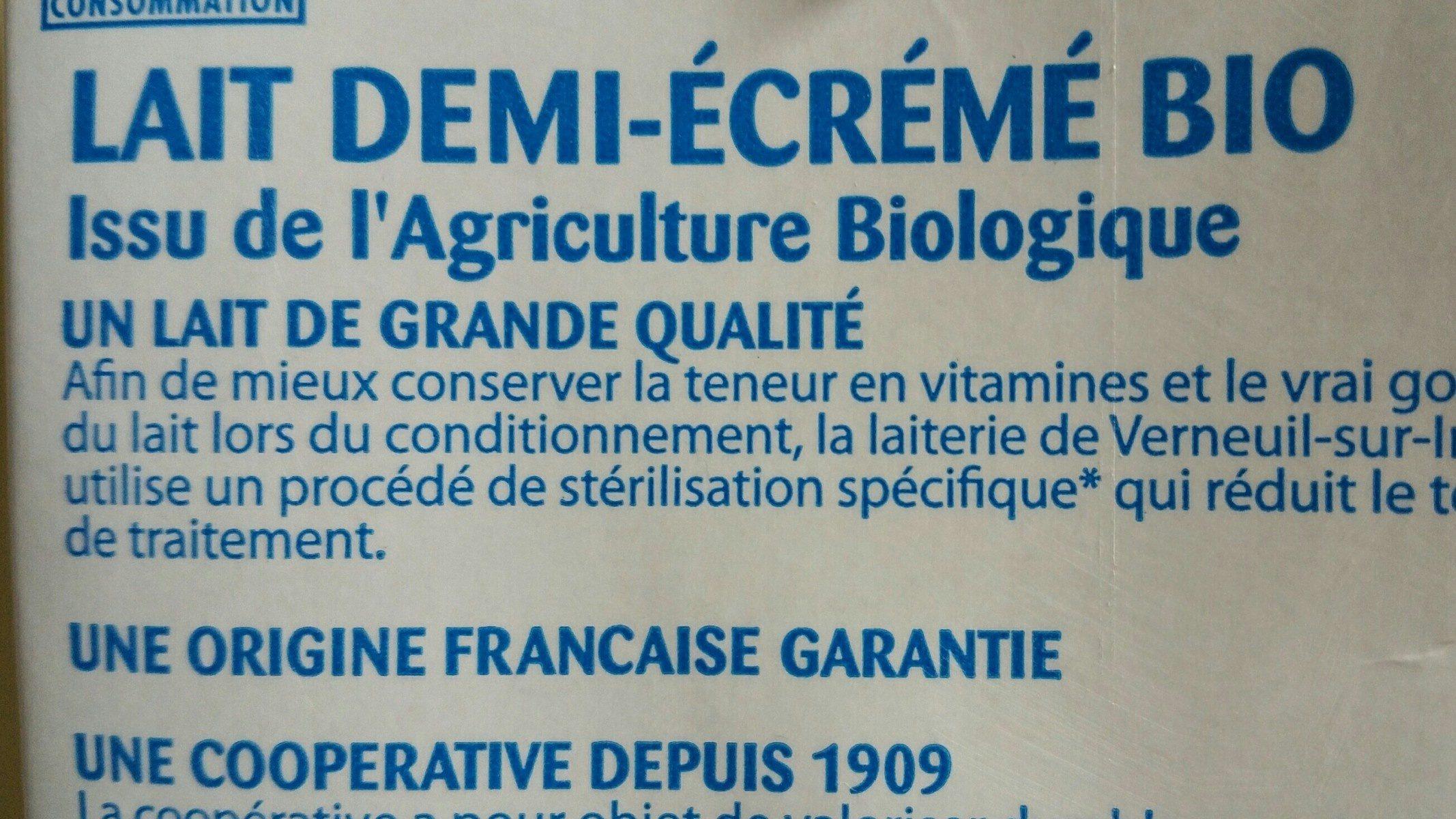 Lait demi-écrémé Bio - Ingrédients - fr