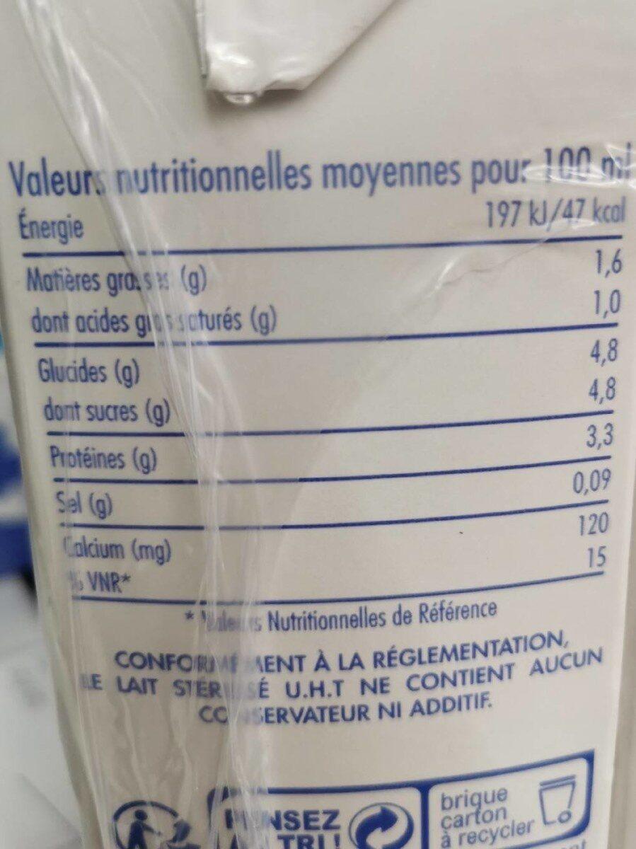 Uht Demi Ecreme Gourmand - Informations nutritionnelles - fr