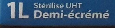 Lait UHT demi ecreme LE GOURMAND, - Ingrédients - fr