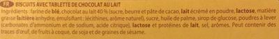 Sport Choc Chocolat au Lait - Ingrediënten