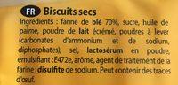 Gouter - Ingrediënten - fr