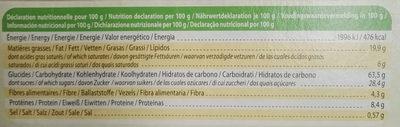 Fourrés cacao - Voedingswaarden - fr