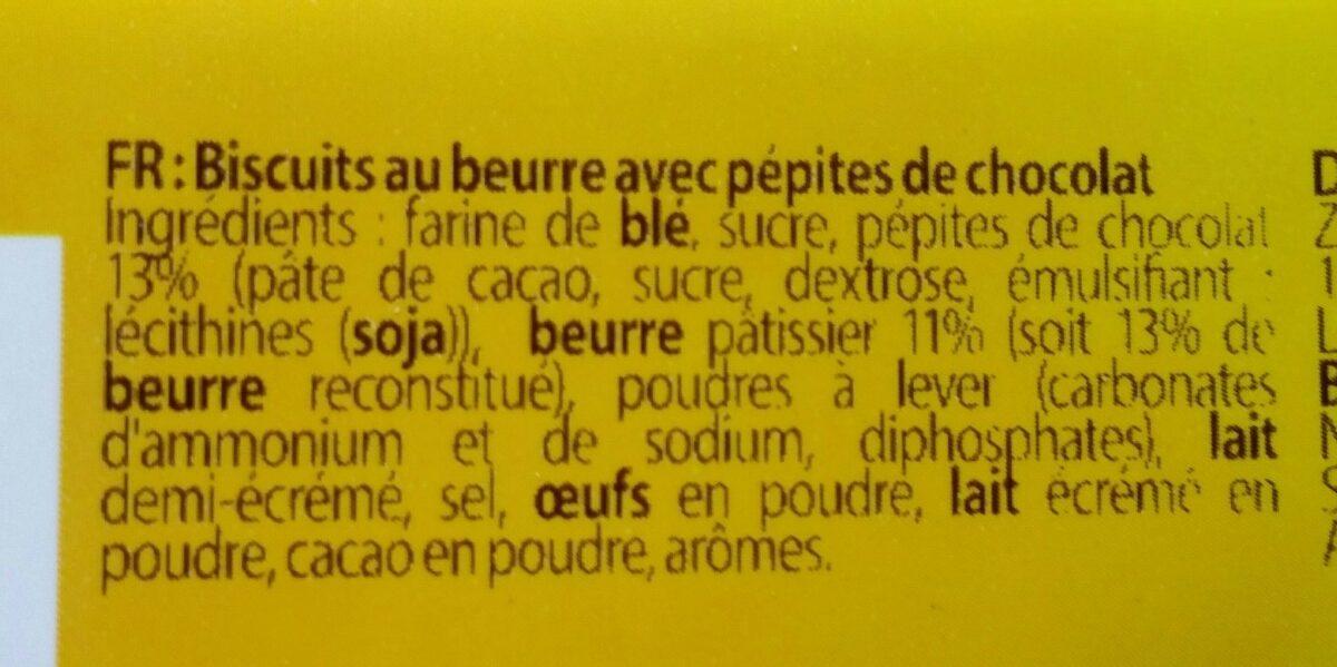 Croc choc petits beurre - Ingrédients