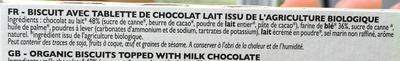 Biscuit tablette Chocolat au Lait - Ingredienti - fr