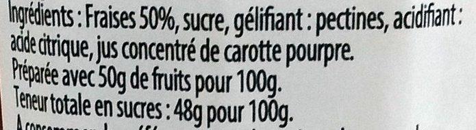 Recette du Sud Ouest - Fraise - Ingrediënten