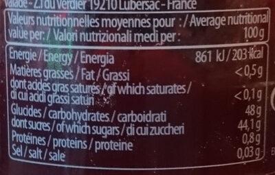 Préparation Framboise 65% 330g - Voedingswaarden - fr