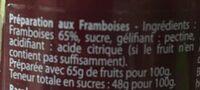 Preparation aux fruits Framboise - Ingredients - fr