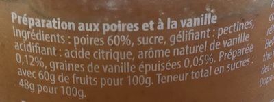 Confiture poire vanille - Ingrediënten - fr