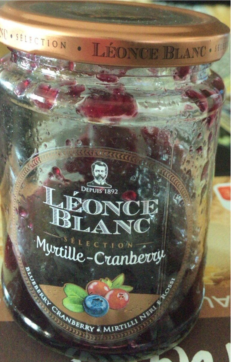 Confiture myrtille cranberry - Product - fr