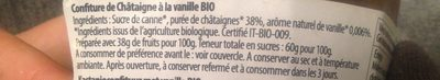 Confiture de chataigne a la vanille bio - Ingrédients - fr